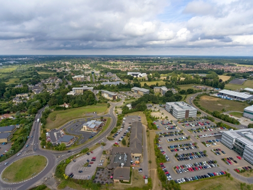Broadland Business Park aerial